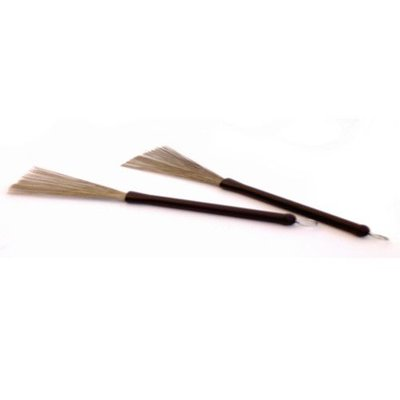 Stagg Brushes met rubber handgreep (per paar), Stagg