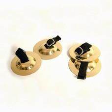Stagg Vingerbekkentjes/zills, set van 4, licht model
