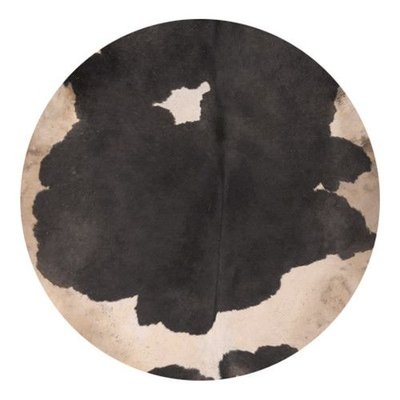 Koeienvel met haar Ø 60 cm, dikte 1,5 - 3 mm