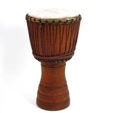 Djembé Ivoorkust, iroko hout Ø 32,5 cm