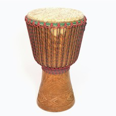 Bouba Percussion Djembé  Guinee, hard hout Ø 32,5 cm, Bouba Percussion