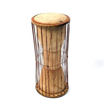 StigSlag Talking drum Dagomba Ghana groot (incl. stokje)
