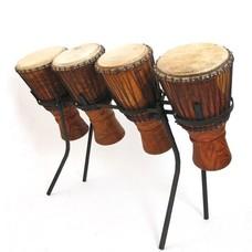Bouba Percussion Bougarabou-set van 4 op standaard Guinee, Bouba