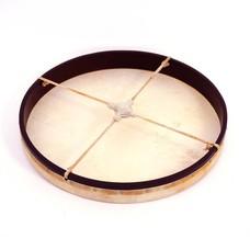 Gongdrum Ø 46 cm met kruis van leer