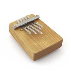Hokema Mini-kalimba op een plankje, 5 tonen, Hokema