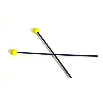Studio 49 Xylofoonstokken CS44, rubber bol, geel, per paar, Studio 49
