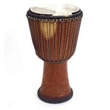 Bouba Percussion Djembé Guinee Ø 32,5 cm, koeievel, dyneema touw, Bouba
