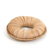 Onderzetter Ø 22 cm voor kalebas, dikke ring, van riet, fijn