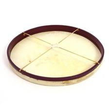 Gongdrum 76 cm met kruis van leer, stembaar