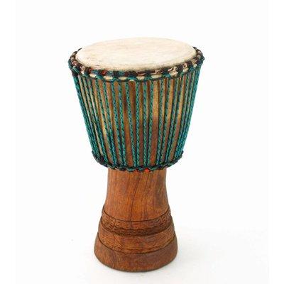 Djembé Ivoorkust, Iroko hout Ø 24 - 25 cm