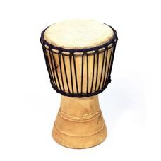 Djembé Ivoorkust, melinahout Ø 19 - 20 cm