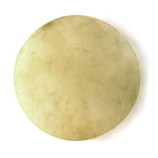 Koeienvel geprepareerd / bongovel Ø 35 cm dikte ± 1 mm