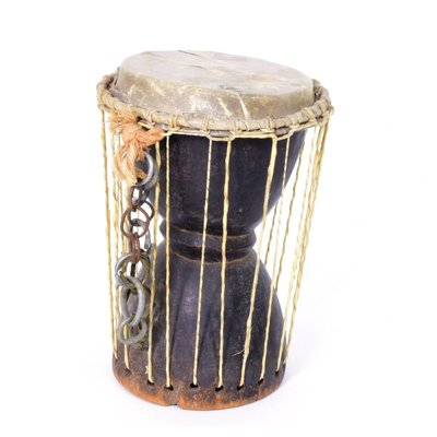 Talking drum Burkina Faso, zeer oud