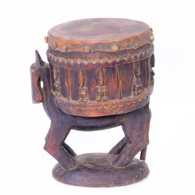Trommel op paard, oud, Dogon, Ivoorkust