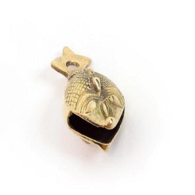Rytmelo Bronzen belletje vissenvorm 7 cm