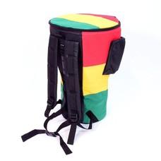 Djembé-tas voor djembe tot 36 cm XXL, rastakleuren, Afroton