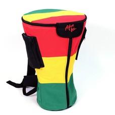 Djembé-tas voor djembé tot 32 cm, L, Rastakleuren, Afroton