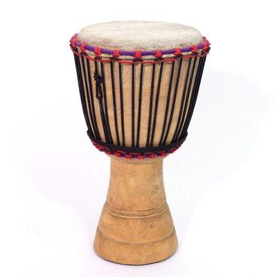 Djembé Ivoorkust, melinahout Ø 21 - 22 cm