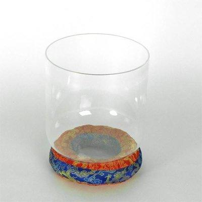 Klankschaal helder kristal Ø 20 cm, toon C (incl. strijker)