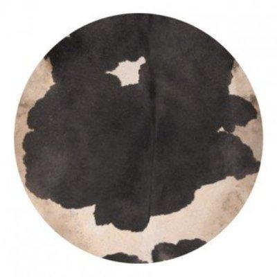 Koeienvel met haar Ø 55 cm, dikte 1,5 - 3 mm