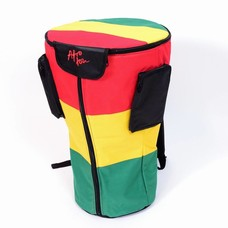 Djembé-tas voor djembé tot 34 cm, XL, Rastakleuren, Afroton