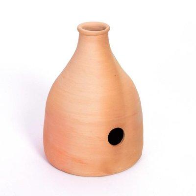 Udu Drum, aardewerk, ± 28 x 35 cm, platte bodem, Hadam