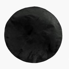 Geitenvel geprepareerd Ø 60 cm zwart, dun