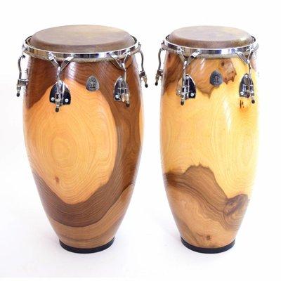 Ossi Percussion Conga-set 10,5 en 12,5'', blank iepenhout, Ossi Percussion