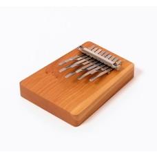 Hokema Mini-kalimba op een plankje, 9 tonen, stemming als Sansula