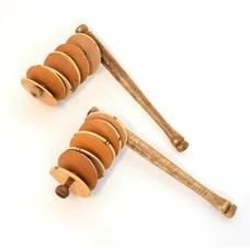 Rakatak met kalebasschijfjes (per paar)