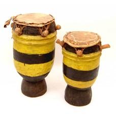 Trommeltjes uit Ivoorkust zwart-geel