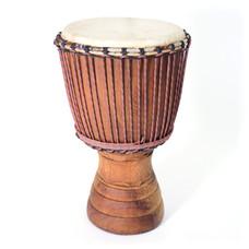 Djembé Ivoorkust, Iroko hout Ø 32 - 33 cm