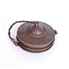 Rytmelo Tingsha's 'Pro Antique', Ø 8 cm, Tibet (incl. metalen hoes)