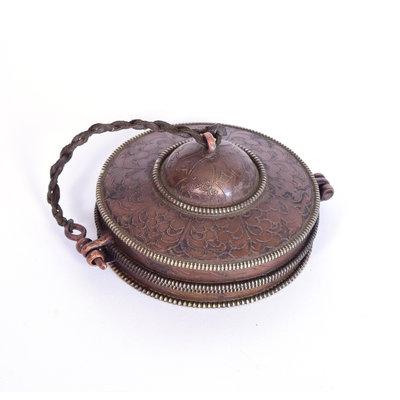 Tingsha's 'Pro Antique', Ø 8 cm, Tibet (incl. metalen hoes)