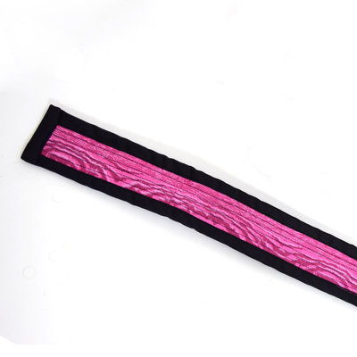 StigSlag Djembé-draagband met paars motief, 4,5 meter lang