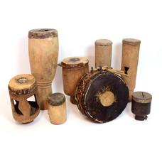 Set oude trommels uit Malawi 1950