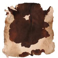 Koeienvel met haar Ø 160 cm, dikte 2 - 3 mm