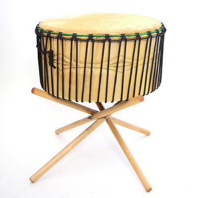 Powwow drum Ø55 cm, 1 zijde koeienvel, StigSlag (incl.stand)