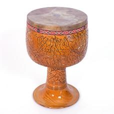 Tombak/ Zarb, model C, houtsnijwerk, uit Iran (incl. koffer)