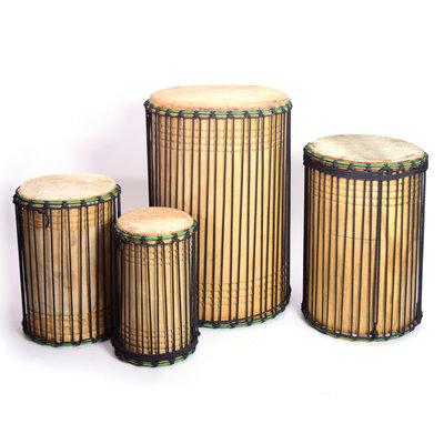 Doundoun-set van 4 uit Guinee, Bouba Percussion