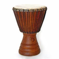 Djembé Ivoorkust, Iroko hout Ø 34 - 35 cm
