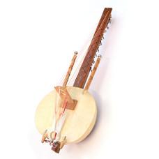 Ngoni met gitaarspanners, 18 snaren, met contactmicrofoon