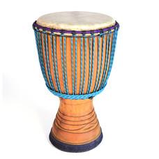 Djembé Ivoorkust Deluxe hardhout Ø 32,5
