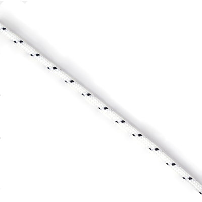Touw polyester 3 mm wit met zwarte stippen (p/m)