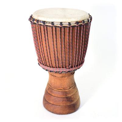Djembé Ivoorkust, Iroko hout Ø 30 - 31 cm