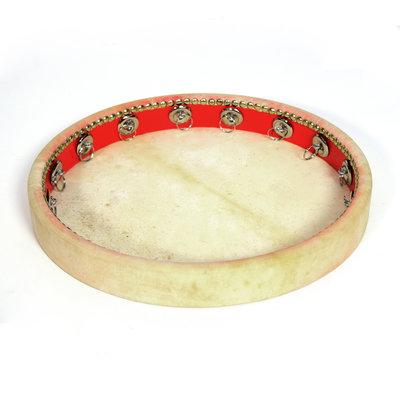 Framedrum natuurvel Ø 41 cm, met ringetjes