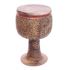 Tombak/ Zarb, model E, houtsnijwerk, uit Iran (incl. koffer)