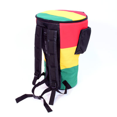 Afroton Tas voor djembé tot 30 cm, M, Rastakleuren, Afroton