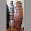 StigSlag Agbadza drums, gemaakt van duigen, set van 4, oud