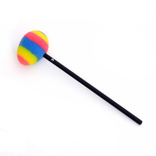 Klopper om gong aan te strijken, ei-vorm, bont gekleurd